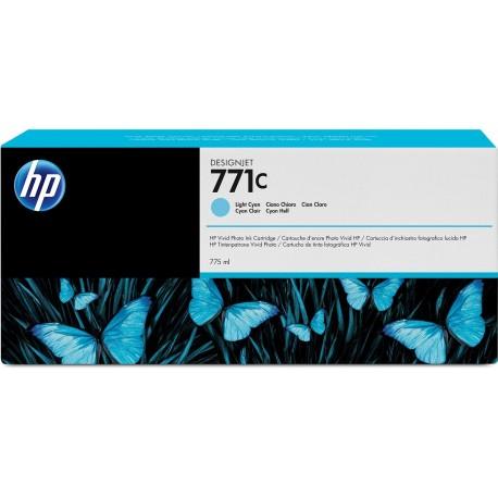 B6Y12A - HP 771C - cartouche d'encre cyan clair 775 ml pour HP Designjet Z6200