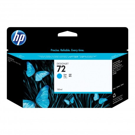 C9371A - HP 72 - cartouche d'encre cyan 130 ml pour HP Designjet T1100, T1120, T1200, T1300, T610, T620, T770, T790