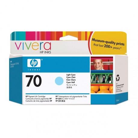C9390A - HP 70 - cartouche d'encre cyan clair 130 ml pour HP Designjet Z2100, Z3100, Z3200, Z5200