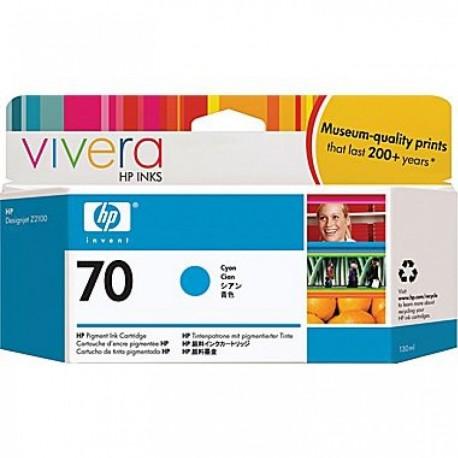 C9452A - HP 70 - cartouche d'encre cyan 130 ml pour HP Designjet Z2100, Z3100, Z3200, Z5200
