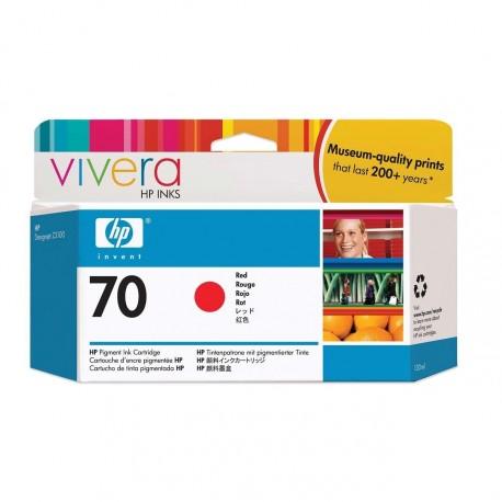 C9456A - HP 70 - cartouche d'encre rouge 130 ml pour HP Designjet Z2100, Z3100, Z3200
