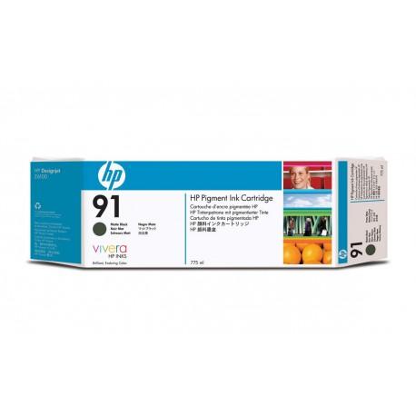 C9464A - HP 91 - cartouche d'encre noir mat pigmente 775 ml pour HP Designjet Z6100