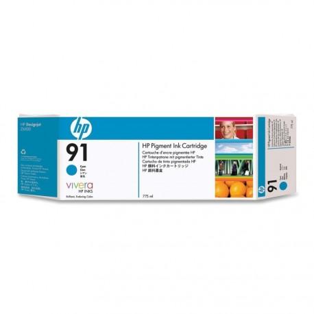 C9467A - HP 91 - cartouche d'encre cyan 775 ml pour HP Designjet Z6100