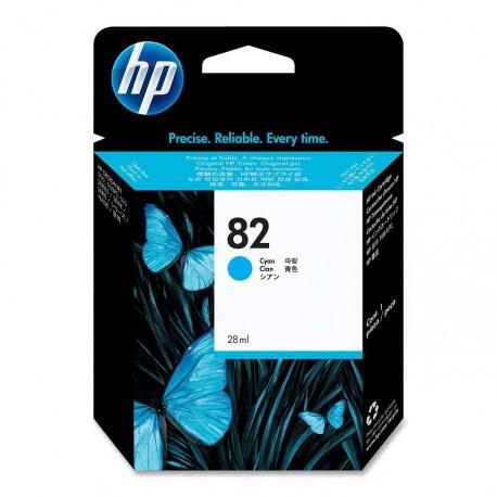 CH566A - HP 82 - cartouche d'encre cyan 28 ml pour HP Designjet 100, 120, 500, 510, 800, 815, 820