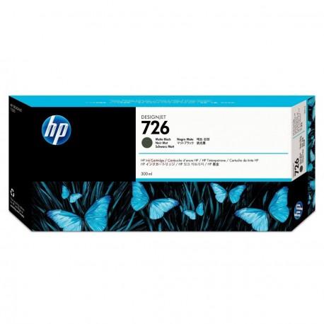 CH575A - HP 726 - cartouche d'encre noir mat 300 ml pour HP Designjet T1200, T1200 HD-MFP, T1300 ePrinter