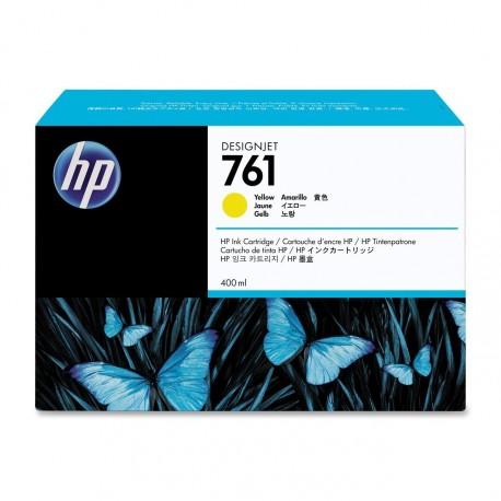CM992A - HP 761 - cartouche d'encre jaune 400 ml pour HP Designjet T7100