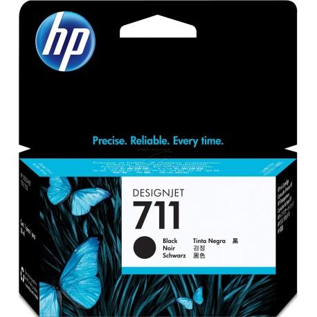 CZ129A - HP 711 - cartouche d'encre noir 38 ml pour HP Designjet T120 ePrinter, T520 ePrinter