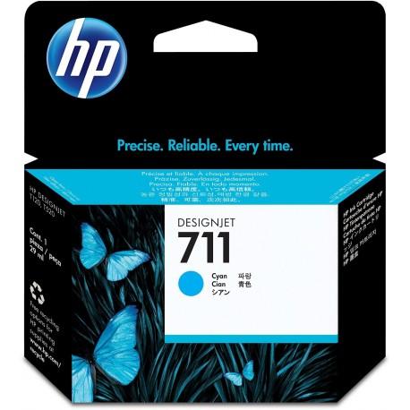 CZ130A - HP 711 - cartouche d'encre cyan 29 ml pour HP Designjet T120 ePrinter, T520 ePrinter