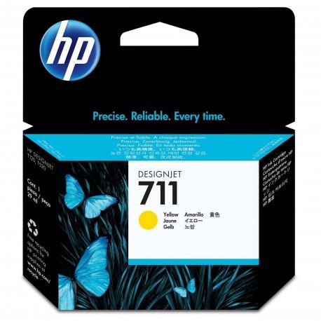 CZ132A - HP 711 - cartouche d'encre jaune 29 ml pour HP Designjet T120 ePrinter, T520 ePrinter
