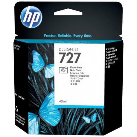B3P17A - HP 727 - cartouche d'encre noir photo40 ml pour HP Designjet T1500, T2500, T920