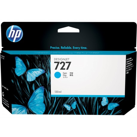 B3P19A - HP 727 - cartouche d'encre cyan130 ml pour HP Designjet T1500, T1530, T2500,T2530, T920, T2530