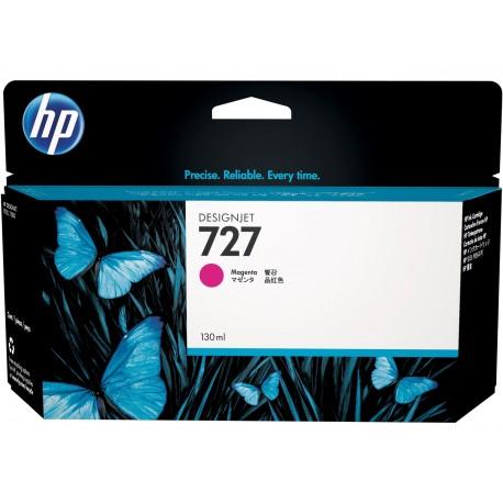 B3P20A - HP 727 - cartouche d'encre magenta130 ml pour HP Designjet T1500, T1530, T2500,T2530, T920, T2530