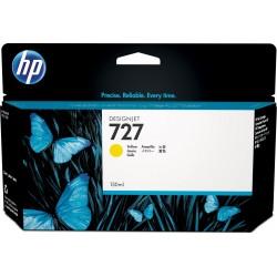 B3P21A - HP 727 - cartouche d'encre jaune130 ml pour HP Designjet T1500, T1530, T2500,T2530, T920, T2530