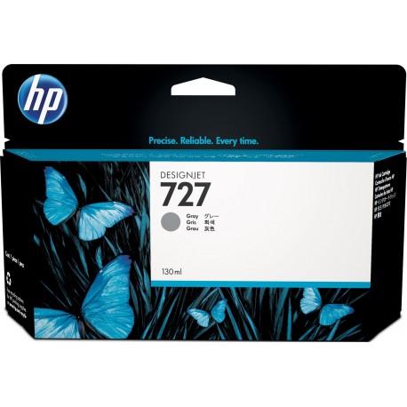 B3P24A - HP 727 - cartouche d'encre gris130 ml pour HP Designjet T1500, T1530, T2500,T2530, T920, T2530