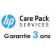 Contrat de Maintenance HP 3 ans pour HP Designjet T1300