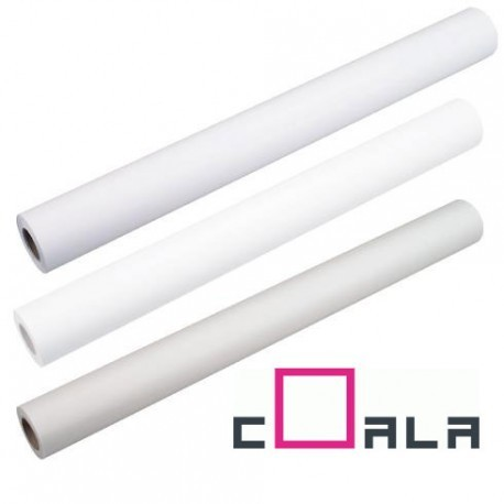 Rouleau de papier photo Coala satine couche blanc 1067mm x 30.00m