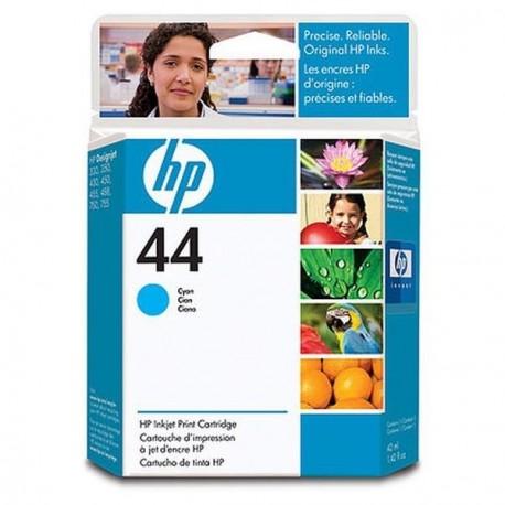 Hp 44 - ref: 51644CE, Cartouche d'encre cyan 42 ml pour HP Designjet 1050, 1055