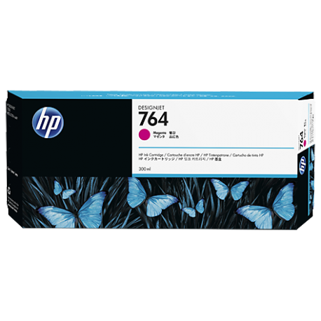 HP 764 - ref: C1Q14A, Cartouche d'encre magenta 300 ml pour HP Designjet T3500