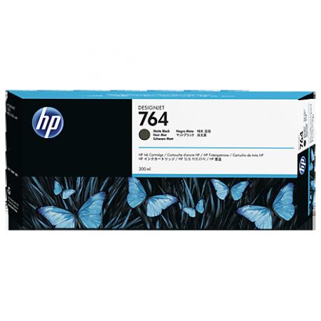 HP 764 - ref: C1Q16A, Cartouche d'encre noir mat 300 ml pour HP Designjet T3500