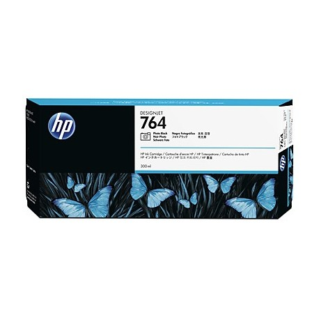 HP 764 - ref: C1Q17A, Cartouche d'encre noir photo 300 ml pour HP Designjet T3500