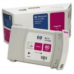 Hp 80 - ref: C4847A, Cartouche d'encre magenta 350 ml pour HP Designjet 1050, 1055