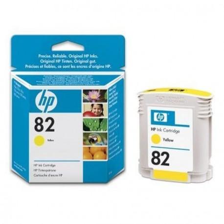 Hp 82 - ref: C4913A, Cartouche d'encre jaune 69 ml pour HP Designjet 100, 120, 500, 510, 800, 815, 822