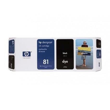 Hp 81 - ref: C4930A, Cartouche d'encre noir 680 ml pour HP Designjet 5000, 5500
