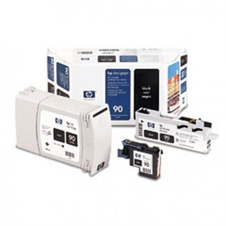 Hp 90 - ref: C5058A, Cartouche d'encre noir 400 ml pour HP Designjet 4000, 4020, 4500, 4520