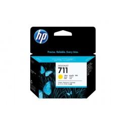HP 711 - ref: CZ136A, X3 cartouches d'encre jaune 29 ml pour HP Designjet T120, T520