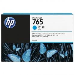 HP 765 - ref: F9J52A, Cartouche d'encre cyan 400 ml pour HP Designjet T7200