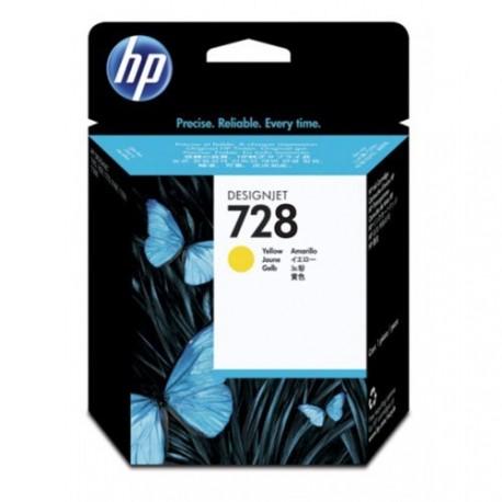 HP 728 - ref: F9J61A, Cartouche d'encre jaune 40 ml pour HP Designjet T730, T830