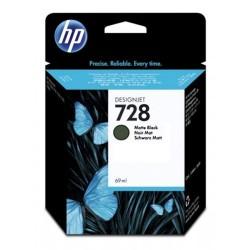 HP 728 - ref: F9J64A, Cartouche d'encre noir mat 69 ml pour HP Designjet T730, T830