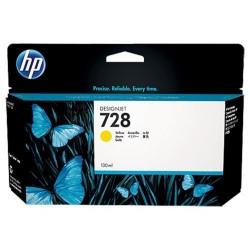HP 728 - ref: F9J65A, Cartouche d'encre jaune 130 ml pour HP Designjet T730, T830