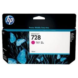HP 728 - ref: F9J66A, Cartouche d'encre magenta 130 ml pour HP Designjet T730, T830