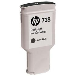 HP 728 - ref: F9J68A, Cartouche d'encre noir mat 300 ml pour HP Designjet T730, T830