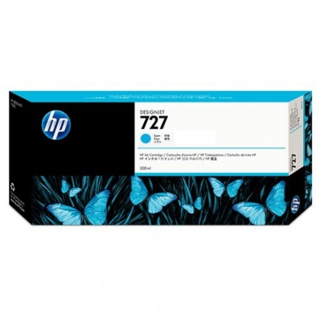 HP 727 - ref: F9J76A, Cartouche d'encre cyan 300 ml pour HP Designjet T930, T1530, T2530