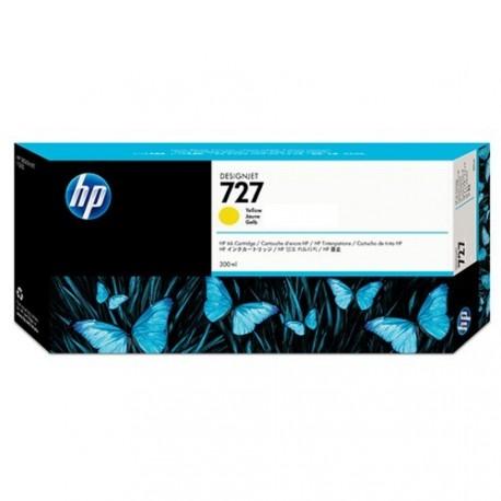 HP 727 - ref: F9J78A, Cartouche d'encre jaune 300 ml pour HP Designjet T930, T1530, T2530